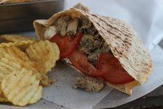 Slow-Cooker Pulled Chicken Greek Pitas
