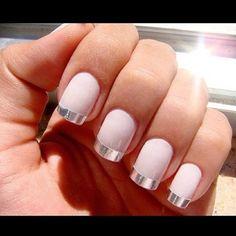 metallic nails -