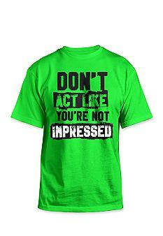 07a603b27 Hybrid™ Not Impressed Tee Shirt #BelkStyle #Attitude Pyjamas, Casual Looks,  Lounge