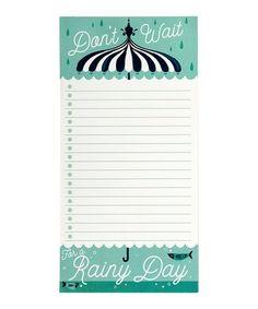 Loving this Rainy Day List Pad on #zulily! #zulilyfinds