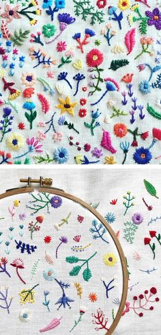 Embroidery Designs Machine Price before Hand Embroidery Patterns Modern within Machine Embroidery Patterns For Baby Quilts unless Embroidery Hoop En Francais Embroidery Hoop Crafts, Hand Work Embroidery, Embroidery Flowers Pattern, Hand Embroidery Stitches, Silk Ribbon Embroidery, Crewel Embroidery, Vintage Embroidery, Embroidery Techniques, Cross Stitch Embroidery