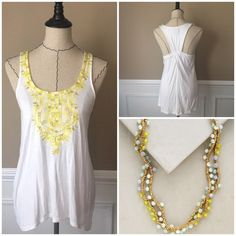 NWOT Anthropologie Vanessa Virginia Tank Tried on but never worn. No signs of wear. Perfect for Summer! Necklace not included.  Anthropologie Tops Tank Tops