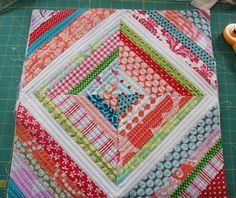 String Quilt Cushion Cover (Tutorial)