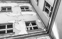 #lackoj #oldhouse #windows #Dyedplaster #blackandwhitephotography #slovakia