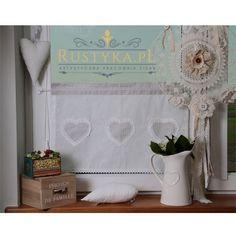 Zazdrostka serce z bawełny Roman Shades, Shabby Chic, Curtains, Home Decor, Dressmaking, Blinds, Decoration Home, Room Decor, Draping