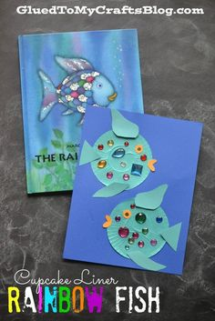 Cupcake Liner Rainbow Fish reading response craft