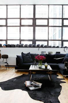 minimalist but bold interior style
