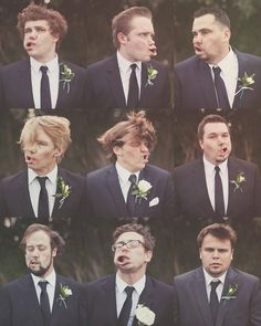 Great Slo-Motion Funny Faces from the Groom and his Men!