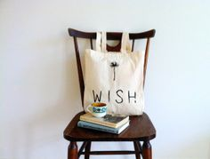 Wish Dandelion Eco Tote von Happy Sweaters auf DaWanda.com