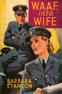 """""""W.A.A.F. into Wife"""" ~ WWII themed book cover art."""