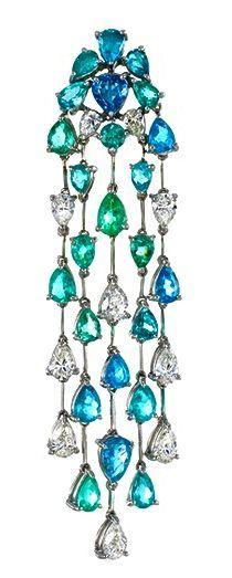 Paraiba Tourmaline and diamond earring