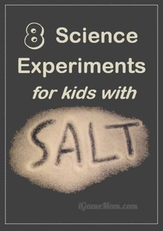 Love kitchen science experiments with materials you already have in the pantry. These simple science activities all use salt plus one or two other ingredients. Kids not only learn salt attributes, but also scientific thinking, process, and methodology. Science Experience, At Home Science Experiments, Science Projects For Kids, Science Activities For Kids, Stem Science, Preschool Science, Elementary Science, Science Classroom, Science Fair