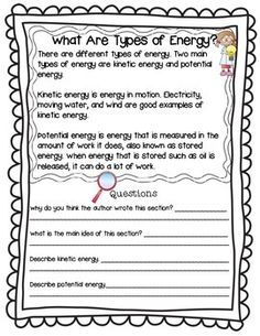 homework styles about energy