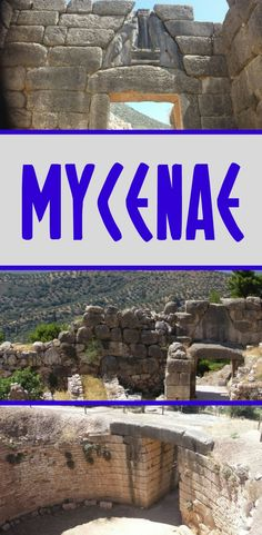 Mycenae is one of the most important archaeological sites in Greece, and easily reached on a day trip from Athens, or as part of a Peloponnese road trip. Greece Itinerary, Greece Trip, Greece Travel, Ancient Ruins, Ancient Greek, Athens Guide, Greek Island Hopping, Mycenae, Greek Islands