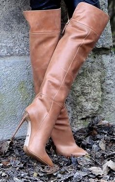 Tan Knee High Boots, High Leather Boots, Tan Boots, Sexy Boots, Cool Boots, High Heel Boots, Brown Boots, Knee Boots, Heeled Boots