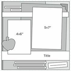 scrapbook page layout sketch