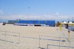 il Beach Stadium di Viareggio in allestimento