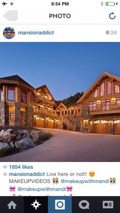 log cabin homes Photo compliments of Montana Log Homes Log Home Living, Log Home Plans, Barn Plans, Log Cabin Homes, Log Cabins, Mountain Homes, Mountain Cabins, Dream House Exterior, Design Hotel