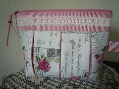 """Kosmetiktäschchen  """"Rose Letters"""" von Lisas Geschenkfundgrube auf DaWanda.com"""