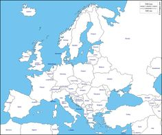 Europe: free map, free blank map, free outline map, free ...