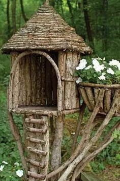 Αποτέλεσμα εικόνας για how to make a fairy house step by step Garden Crafts, Diy Garden Decor, Garden Projects, Garden Art, Garden Design, Garden Ideas, Fairy Tree Houses, Bird Houses Diy, Fairy Garden Houses