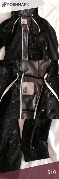 Galaxy Windbreaker In excellent condition and I bought it from Zumies. It's not waterproof but it's super light weight and perfect for cooler days :) Zine Clothing Jackets & Coats