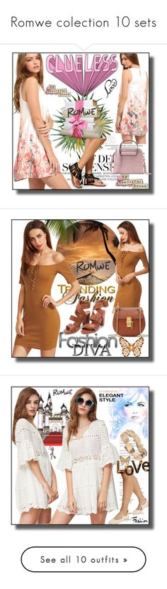 """""""Romwe colection 10 sets"""" by fahirade ❤ liked on Polyvore featuring GUESS, Envi:, Grace, D&G, Rainforest and vintage"""