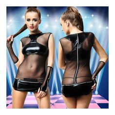 ==> [Free Shipping] Buy Best Luxury Leather Club Nightclub Dancer Pipe Black Perspective Sexy Stage Performance Dress Sexy Lingerie Wholesale Game Sex Addict Online with LOWEST Price | 32760670313