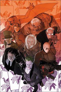 Batman & The Dark Knights of Gotham Batman Comic Art, Joker Art, Marvel Dc Comics, Joker Comic, Comic Book Villains, Comic Book Characters, Comic Books Art, Book Art, Batman Universe