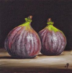 """Pair of Figs"" - Original Fine Art for Sale - © Jane Palmer"
