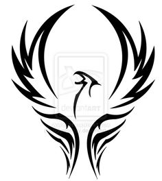 Tribal Phoenix by ~holymonkey on deviantART ok to use for tattoo. Ask permission to post on web (or at least credit artist)