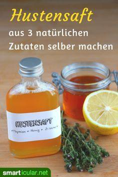 Hustenmedizin aus der Natur: Diesen schnellen Hustensirup aus natürlichen Zutaten kannst du einfach selber machen. Schleimlösend, entzündungshemmend und effektiv gegen Husten.