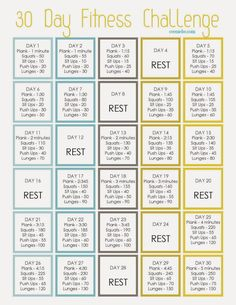 30 Day Fitness Challenge - Cee Me Be