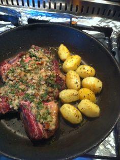 Veal and potatoes Parmesan Potatoes, Steak, Cooking, Food, Kitchen, Eten, Steaks, Meals, Beef