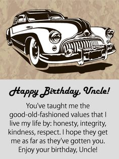 Send Free Admire You! Happy Birthday Card for Uncle to Loved Ones on Birthday & Greeting Cards by Davia. It's free, and you also can use your own customized birthday calendar and birthday reminders. Happy Birthday Uncle Quotes, Birthday Wishes For Uncle, Funny Birthday Cards, Birthday Greeting Cards, Happy Birthday Me, Birthday Greetings, Birthday Reminder, Birthday Posts, Birthday Calendar