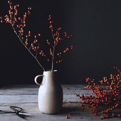 Red Berries in Vase - James Ransom for Food52 via Remodelista