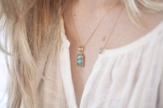 Clean turquoise necklace