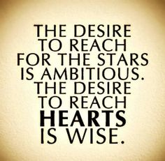 Perhaps we can be both Wise & Ambitious! What do you think?