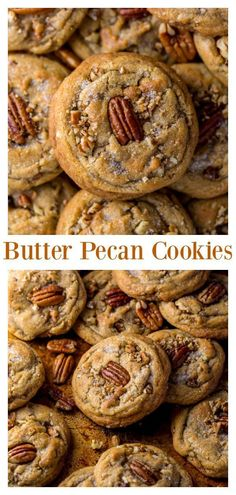 Brown Butter Pecan Cookies are thick, chewy, and crunchy! - Brown Butter Pecan Cookies are thick, chewy, and crunchy! Informations About Brown Butter Pecan Cook - Brownie Cookies, Shortbread Cookies, Baking Cookies, Baking Cups, Baking Soda, Köstliche Desserts, Dessert Recipes, Food Deserts, Peanut Butter