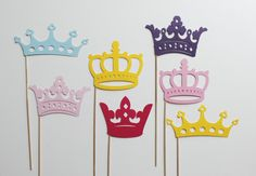 Princess Photo Booth Props - Seven Princess Birthday Photobooth Party Props on Etsy, $33.25