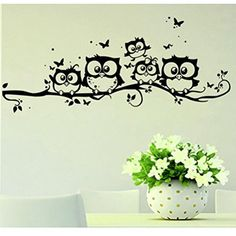 Cheap butterfly wall, Buy Quality butterfly wall stickers directly from China wall sticker decor Suppliers: Hot! FashionHomey Design Wall stickers Kids Vinyl Art Cartoon Owl Butterfly Wall Sticker Decor Home Decal Levert Fast Ship Bedroom Stickers, Deco Stickers, Decoration Stickers, Wall Decals For Bedroom, Butterfly Wall Stickers, Wall Stickers Home Decor, Vinyl Wall Stickers, Wall Vinyl, Rooms Home Decor