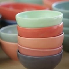 Beautiful handcrafted stoneware ceramics from Bison Australia. Great simple designs and a fantastic palette of colours.