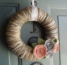 Paisley Sprouts: yarn wreaths