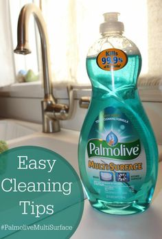 Easy Cleaning Tips #PalmoliveMultiSurface