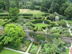Panoramic View of Sissinghurst Castle Gardens