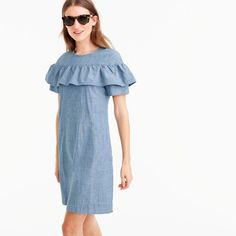 Petite Edie dress in chambray