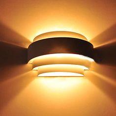 lumina de perete, 1 lumina, polizare moderne anodizat de metal – USD $ 35.99