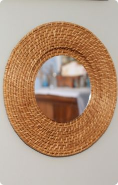 woven wall mirror from plate charger