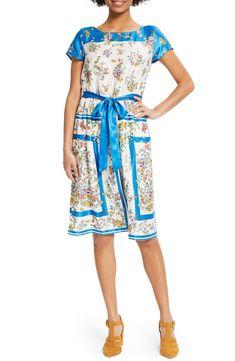 a5825257639 ModCloth Scarf Print Satin Dress (Regular   Plus Size)