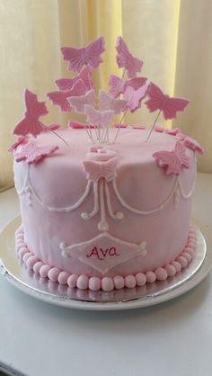 Classy butterfly cake